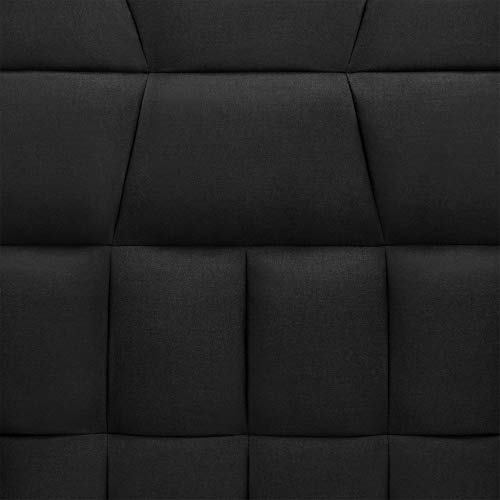 Best Choice Products Living Room Convertible Linen Fabric Tufted Splitback Sleeper Plush Futon Couch Furniture w/ Pillows - Black