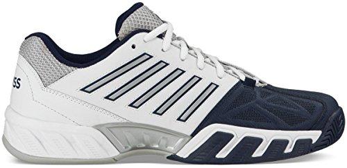 K-Swiss Men's Bigshot Light 3 Tennis Shoes (White/Navy) (10.5 D(M) (Court Iii Tennis Shoe)