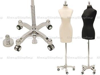 Roxy Display JF-F14/16BK+BS-WCDX Dress Form