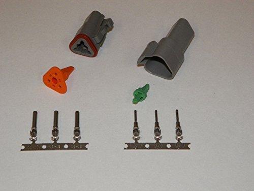 - Deutsch 3-pin Connector Kit W/housing, Terminals, Pins, and Seals 14-16 Gauge Crimp Style Terminals