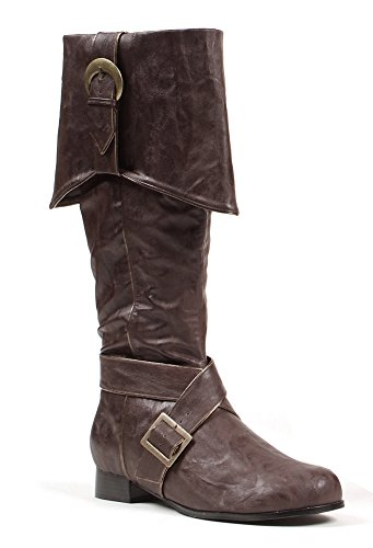 121-Jack Knee High Boots Costume Shoes - Large - Brown Renaissance Shoes