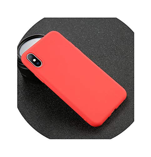 Phone CaseSoft TPU Case Candy Color Back Cover,Red,for iPhone 7 Plus (Fendi Junior)