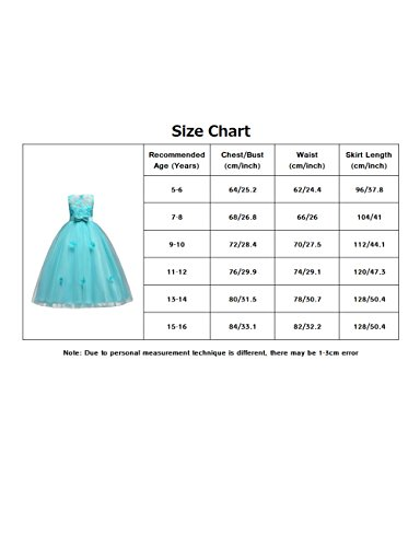 aibeiboutique Flower Girl Dresses Pageant Princess Bridesmaid Dress for Wedding First Communion (7-8 Years, Royal Blue) by aibeiboutique (Image #2)
