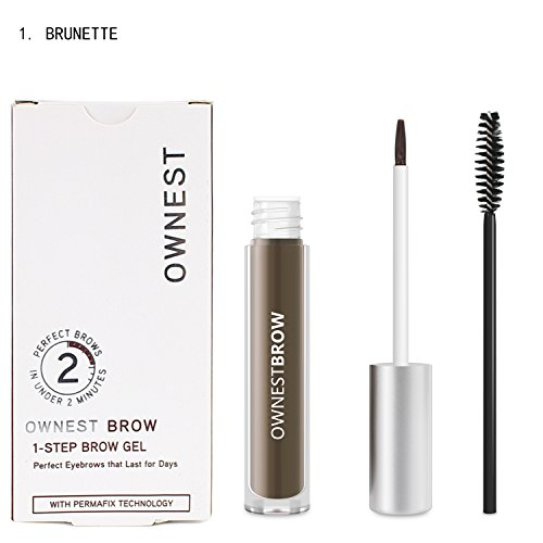 Ownest Makeup 4 Colors Eyebrow Color Perfect Eyebrows Waterproof Eyebrow Gel-Brunette