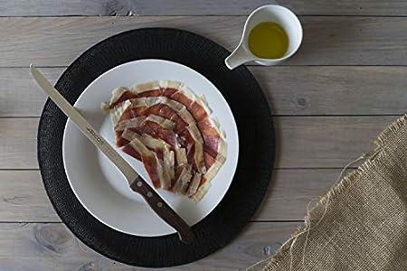 Arcos Serie Atlantico, Cuchillo Jamonero Flexible, Hoja de Acero Inoxidable de 245 mm, Mango de madera Palisandro color Marrón