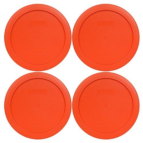 Round Pumpkin (Pyrex 7201-PC Round 4 Cup Storage Lid for Glass Bowls (4, Pumpkin Orange))