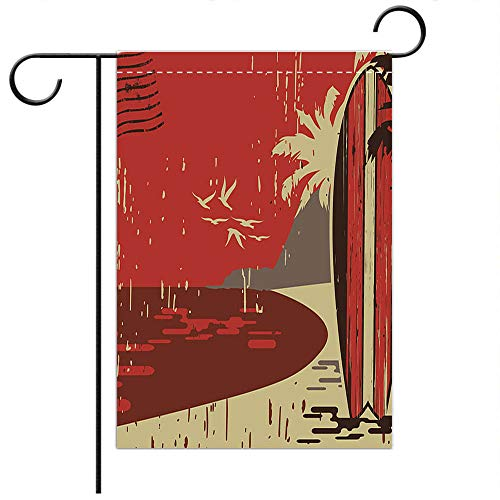BEICICI Custom Personalized Garden Flag Outdoor Flag Surfboard Postcard Best for Home Outdoor Decor and Party Yard