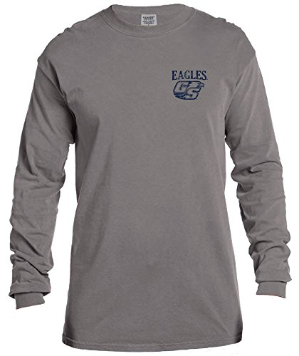 NCAA Georgia Southern Eagles Vintage Poster Comfort Color Long Sleeve T-Shirt, Small,Grey -