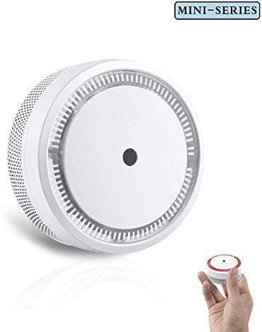 SITERWELL Smoke Detector, 10-Year Smoke Alarm with Photoelectric Technology, Small Fire Detector with Built-in Battery and Test Silence Button for House and Office, UL Listed, GS522C-A, 1 Pack