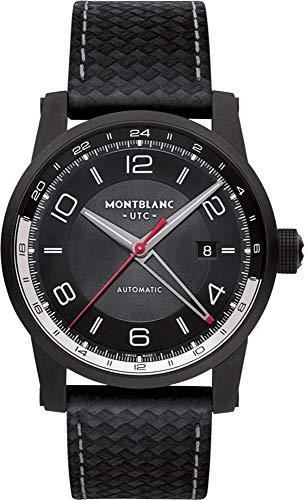 Montblanc Timewalker Urban Automatic Black Dial Black Leather Mens Watch ()