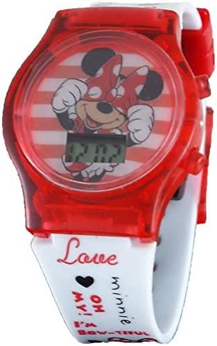 Disney Minnie Mouse Little Girl's Light Up Digital Watch MN1407