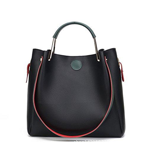 GWQGZ Ms Diagonal Simple Moda Bolso Bolso Gules Black