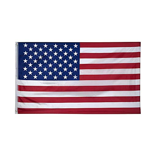 - SUNYAO American Flag 3x5 Foot Nylon US Flags Bright Vivid Color Premium Material Outdoor,Longest Lasting USA National Flags Outside(Breeze Style)
