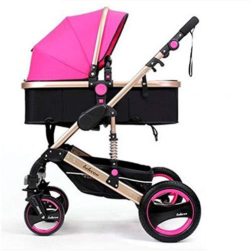 Y-Pushcar Luxury Baby Stroller 2 in 1 High Landscape Baby Prams for Newborns Travel System Baby Trolley Walker Foldable Baby Car Carriage,Purple