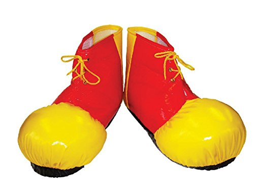 Red & Yellow Adults Clown Shoe Covers by Bristol Novelty