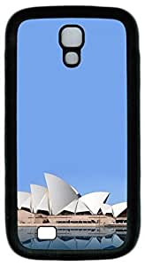 Brian114 Samsung Galaxy S4 Case, S4 Case - Protective Skin Black Soft Rubber Case for Samsung Galaxy S4 I9500 Sydney Opera House 2 Pattern Case Cover for Samsung Galaxy S4 I9500
