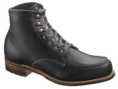 3ab8b856411 Wolverine Black Courtland 1000 Miles Welted Horween Leather Mens ...