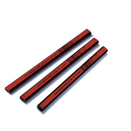 - Dixon Industrial Carpenter Pencils, Economy Medium Graphite Core, Black, 7