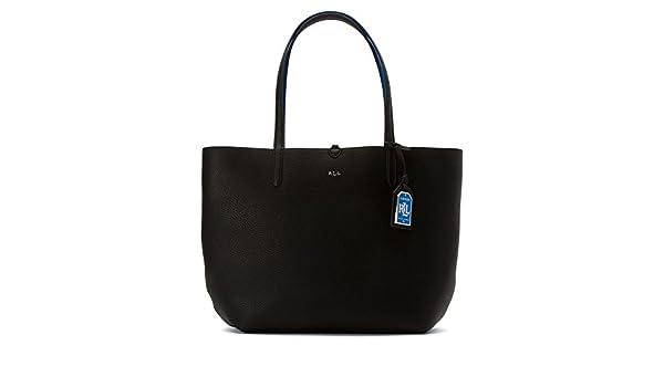 a6389d20d3c Amazon.com  LAUREN Ralph Lauren Women s Milford Olivia Reversible Tote  Black Cyan none none  Shoes