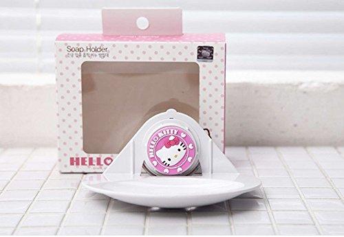 [Hello Kitty Vacuum Compression Suction Soap Dish Holder] (Hello Kitty Soap Dish)