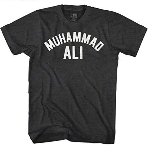 American Classics Muhammad Ali 60s Goat Greatest Boxer Black Heather Adult T-Shirt Tee