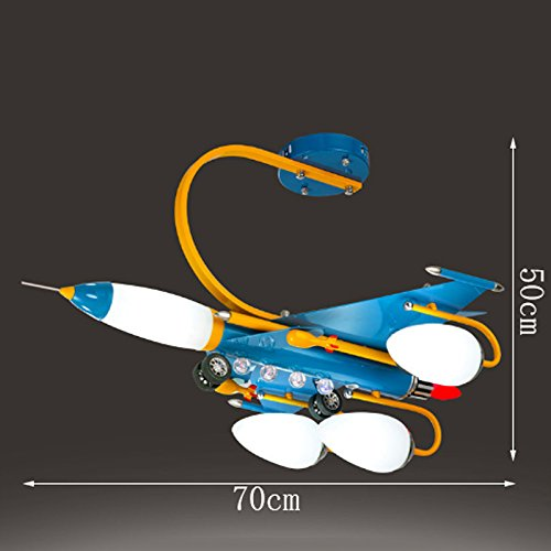 Creative Children's Room Ceiling Lamps, Blue Boys And Girls Airplane Lights, LED Bedroom Cartoon Lights by Cang teacher (Image #1)