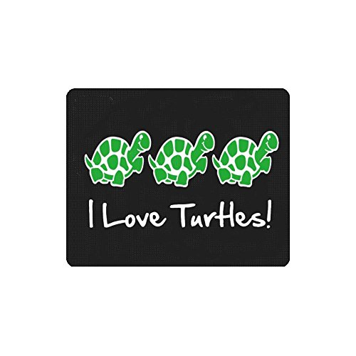 Thwo I Love Turtles Mouse Pads (Snapping Turtle Shell)