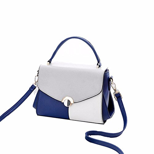 GTVERNH-Ladies' Bag Fashion Wild Bolsa Mochila Solo Hombro Bolso,Azul blue