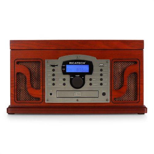 Ricatech RMC250 Madera - Tocadiscos (4 W, Madera, 435 mm, 317 mm ...