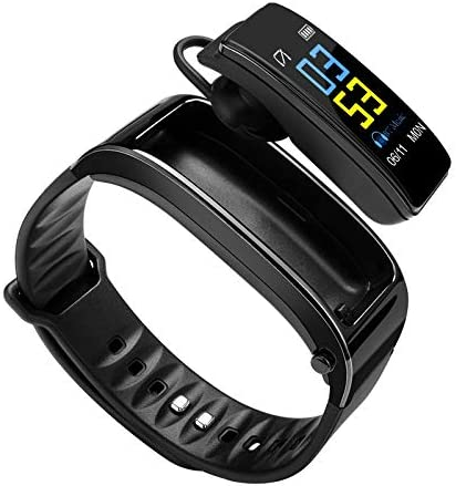 Fitness teacker Headphone 2 in 1, Activity Health Exercise Smart Watch with Heart Rate & Sleep Monitor, Calorie Counter, Step Counter, Pedometer Walking for Men & Women