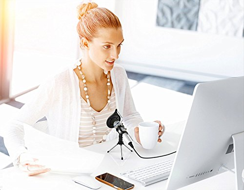 Professional Recording Microphone condenser With Stand,3.5mm Plug&Play Computer Microphone For PC Iphone Ipad Podcasting Phone Laptop Karaoke Youtube Singing Gaming by JINHI by JINHI (Image #7)