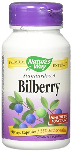 Nature's Way Bilberry Standardized Extract Veg Capsules 90 ea (Way Natures Extract)
