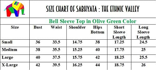 Sabhyata The Ethnic Valley Women S Polyester Bell Sleeve Top