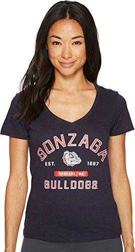 Champion College Women's Gonzaga Bulldogs University V-Neck Tee Navy ()