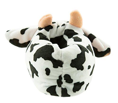 Beppi Kinderhausschuhe Kuh   Hausschuhe mit Lustigem Kuhmotiv   Farbe: Weiss   Gefüttert Weich Warmes Material   Schuhe für Haus und Flur