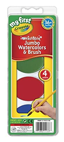 Crayola My First Jumbo Washable Watercolors Set (Toddler Non Toxic Paint)
