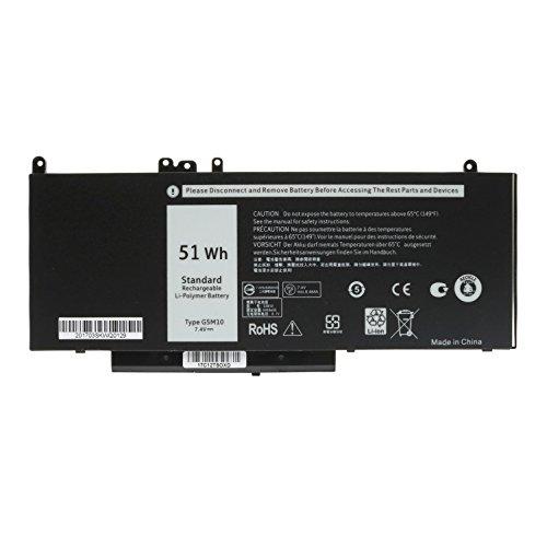7.4V 51WH Laptop Battery G5M10 For DELL Latitude E5450 E5550 Notebook 15.6 G5M10 8V5GX R9XM9 WYJC2 1KY05--SIKER