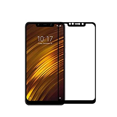 Xiaomi Pocophone F1 Screen Protector Tempered Glass Film, 2 5D Curved 9H  Hardness Tempered Glass Screen Protector HD Full Coverage Xiaomi Pocophone  F1