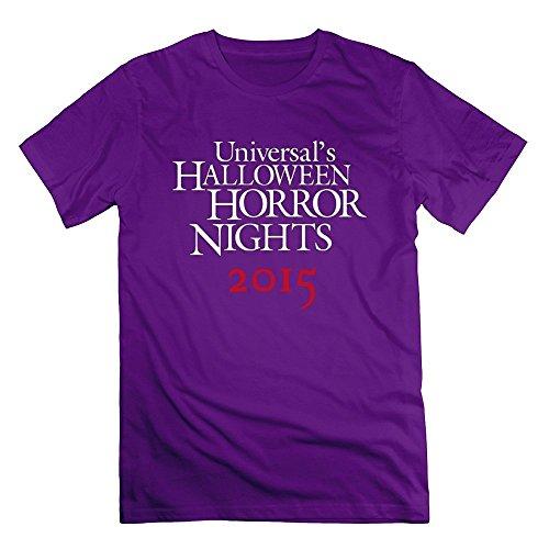 Men's Halloween Horror Nights T-shirts X-Large Purple
