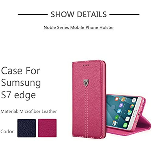 Galaxy S7 Edge Case, Newnet Leather PU Premium Wallet Case with STAND Flip Cover for Samsung Galaxy S7 Edge (Rose Sales