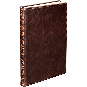 Samsill Antique Classic Size Writing Notebook, Hardbound Cover, 5.25 Inch x 8.25 Inch, 100  Vintage Look Ruled Sheets (200 Pages), Dark Brown (Diary, Journal)