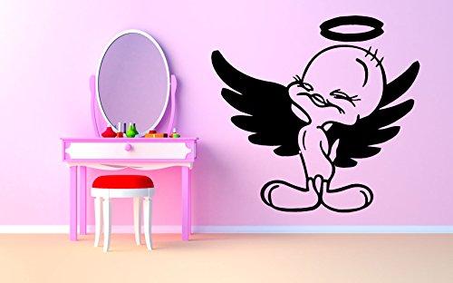- Wall Room Decor Art Vinyl Sticker Mural Decal Angel Tweety Tv Show Cartoon Kids Bedroom Nursery Guys Girls Sweet Bird Big AS2129