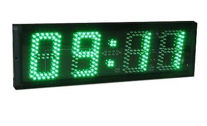 Godrelish grande de 5 pulgadas 4 dígitos LED El tiempo de carrera reloj de cuenta atrás ...
