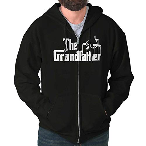 (Grandfather Classic Italian Mafia Movie Zip Hoodie Black)