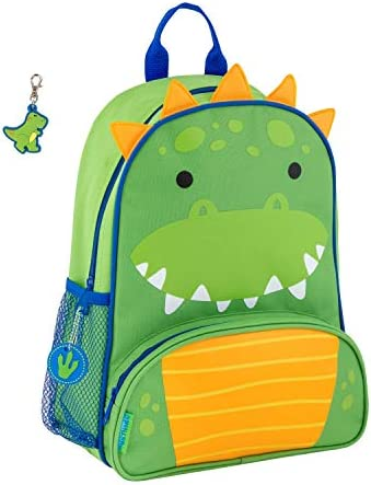 Stephen Joseph Boys Sidekick Dinosaur Backpack with Zipper Pull