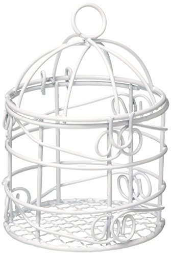 "Homeford FCF001512WHT Mini Metal Wire Bird Cages, White, 2-3/4"", 10 Pack"
