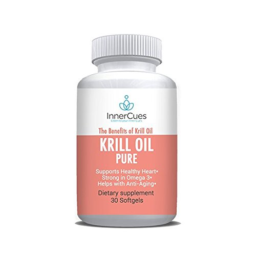 InnerCues Krill Oil - Dietary Supplement - 30 Soft Gels