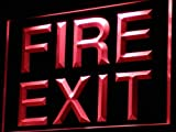ADVPRO Fire Exit Emergency Exit Display LED Neon Sign Red 12'' x 8.5'' st4s32-i777-r