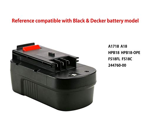 POWERGIANT 18V 3.0Ah Ni-Mh Batería para Black & Decker A18 A18E A1718 HPB18 HPB18-OPE 244760-00 Firestorm FSB18