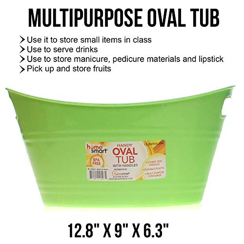 Oval plastic storage tubs with handle - Small size